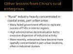 other lessons from china s rural enterprises