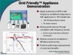 grid friendly appliance demonstration