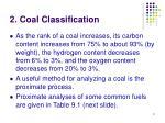 2 coal classification