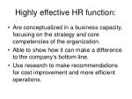 highly effective hr function