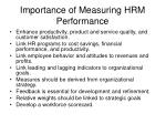 importance of measuring hrm performance