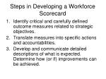 steps in developing a workforce scorecard