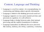 content language and thinking