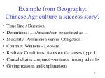 example from geography chinese agriculture a success story