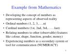 example from mathematics
