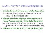 lac a way towards plurilingualism