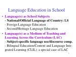 language education in school