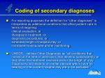 coding of secondary diagnoses