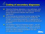 coding of secondary diagnoses41