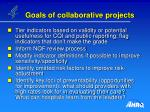 goals of collaborative projects