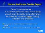 norton healthcare quality report