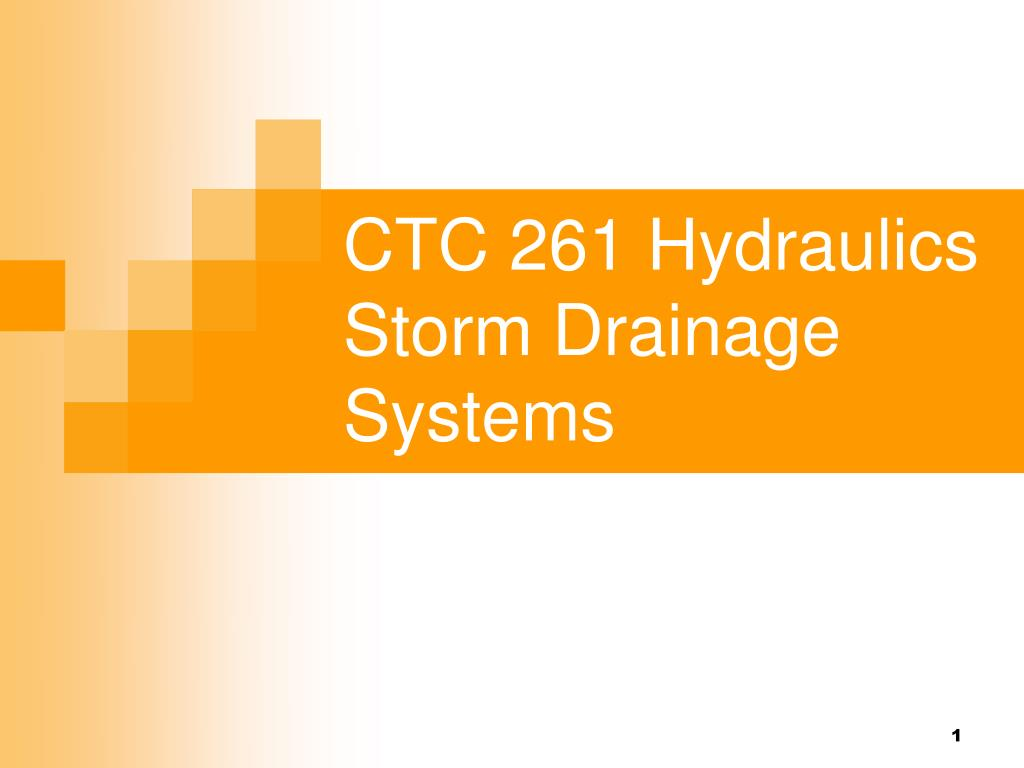 ctc 261 hydraulics storm drainage systems l.