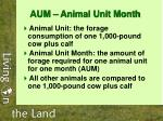 aum animal unit month