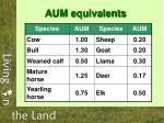 aum equivalents