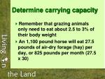 determine carrying capacity