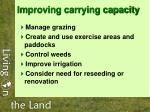improving carrying capacity