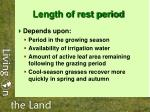 length of rest period