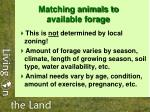 matching animals to available forage