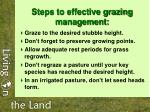 steps to effective grazing management
