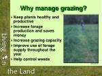 why manage grazing
