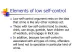 elements of low self control9