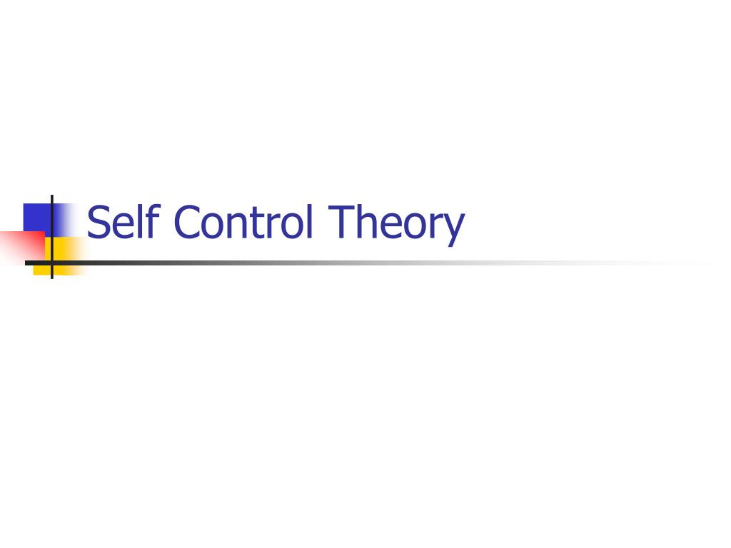self control theory l.
