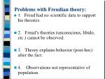 problems with freudian theory