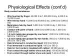 physiological effects cont d6