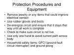 protection procedures and equipment