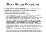 shock rescue procedures