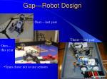 gap robot design