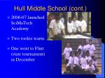 hull middle school cont