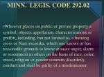 minn legis code 292 02