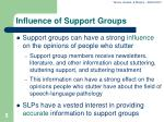 influence of support groups