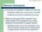 method participants11