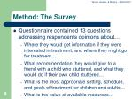 method the survey
