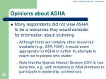 opinions about asha