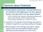 opinions about treatment