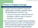 power of support groups
