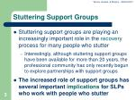 stuttering support groups