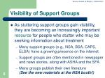 visibility of support groups