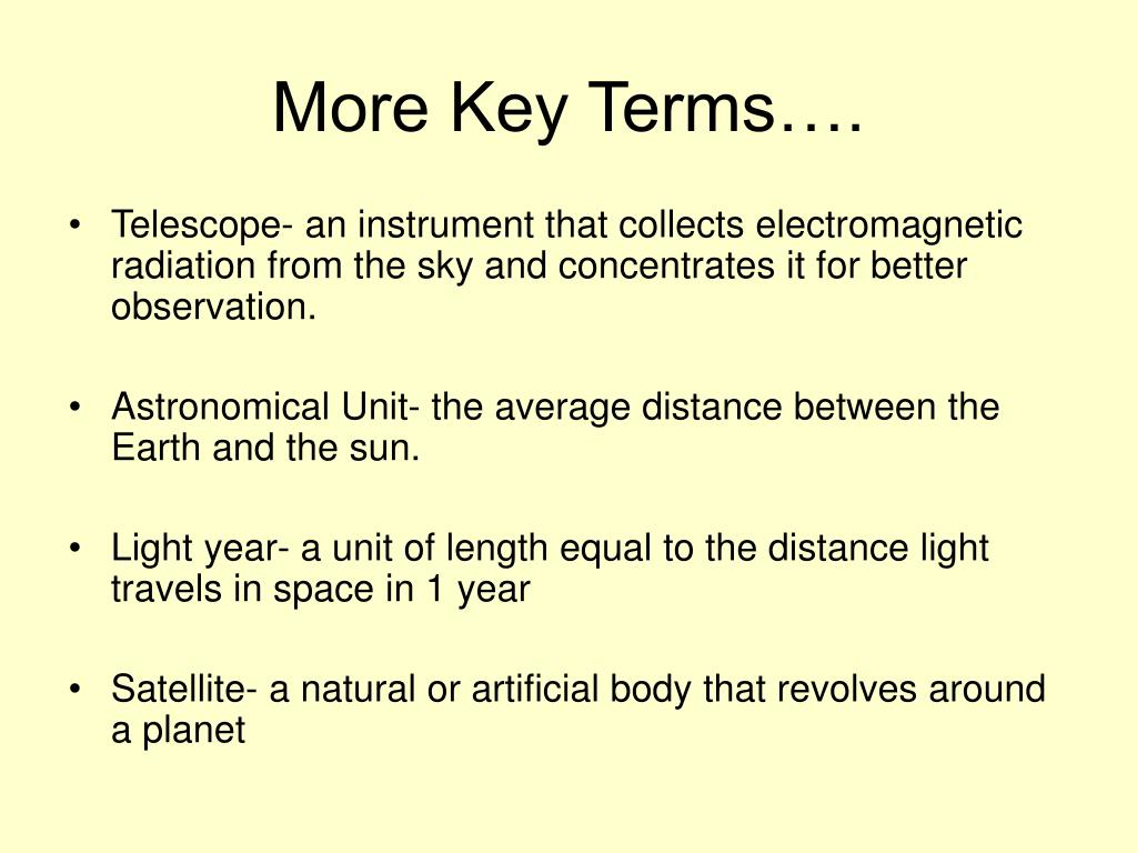 More Key Terms….