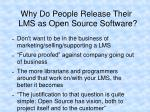 why do people release their lms as open source software