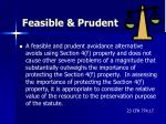 feasible prudent53