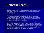 hierarchy cont