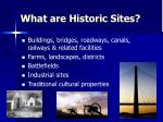 what are historic sites