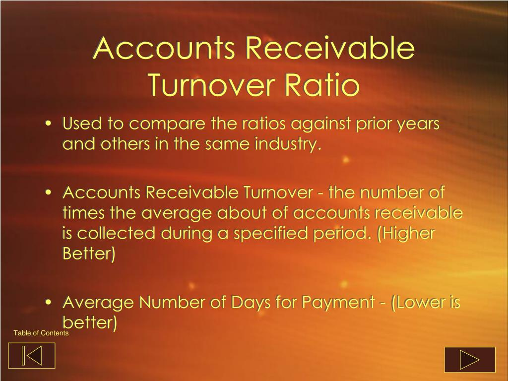 Accounts Receivable Turnover Ratio
