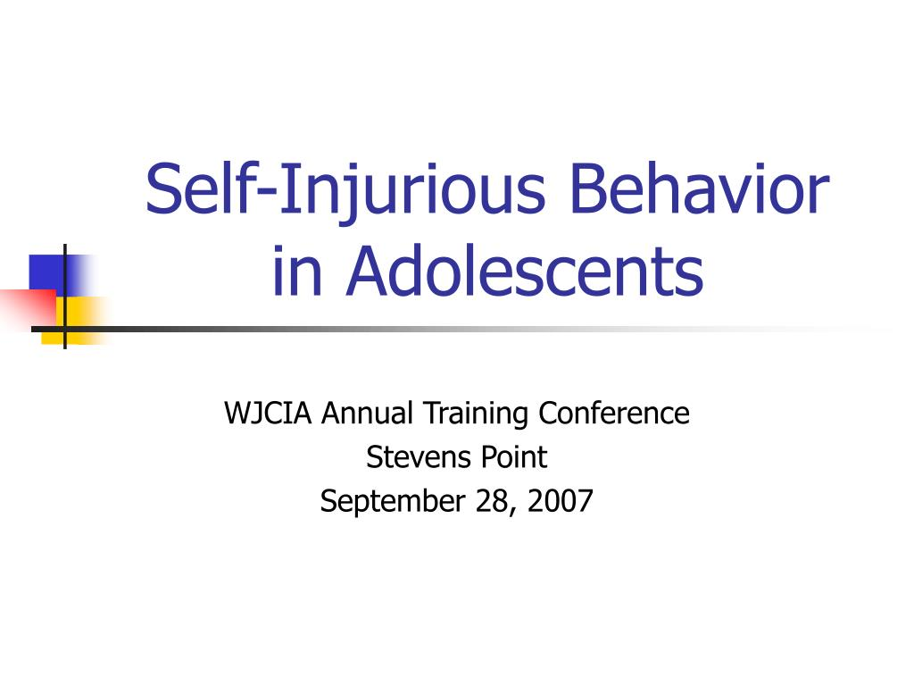 self injurious behavior in adolescents l.