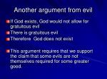 another argument from evil