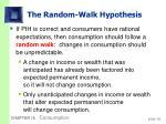 the random walk hypothesis37